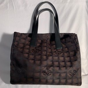 Chanel Travel Line  Beautiful Black Logo Print